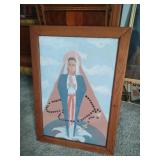 framed painting of Mary