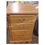 Fiberboard Oak 2 drawer filing cabinet