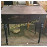 Antique solid wood writing desk
