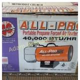All-Pro portable propane forced air heater, 40000