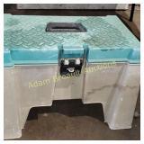 Contico plastic gardening storage stool