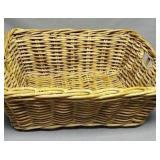 Hand-woven twig basket, 17 x 21 x 9, great shape