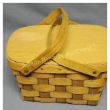 Basketville Putney VT wood woven basket, 8 x 11 x
