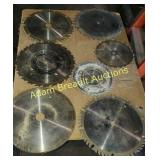 7 assorted circular saw blades