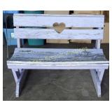 Custom built solid wood outdoor bench, needs a