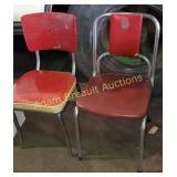 2 vintage Chrome frame vinyl chairs