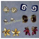 6 assorted earrings