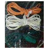 3 extension cords and Electric deicer