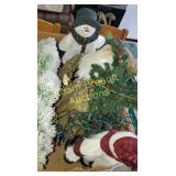 Box  lot - Christmas snowman, Santa Claus,