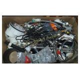 Box  lot -  flexible hose, pipe unions,