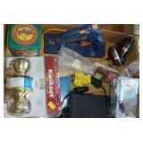 Box lot - Kwikset door handle, umbrella, glue