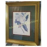 Ornate gold frame Magnolia wall print, 20 x 24