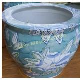 13 in porcelain floor planter