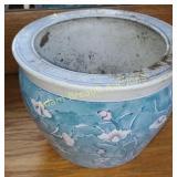 9.5 inch porcelain floor planter