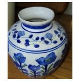 Blue and white flower porcelain 6 inch flower