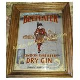Beefeater London dry gin mirror, 11.5 x 14