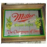 Miller High Life beer mirror, 11.25 x 14