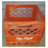 Vintage Sta-Fresh plastic milk crate
