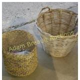 2 wicker baskets and tomato Babylon bags & grow