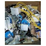 Box of assorted electrical supplies