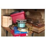 Assorted fishing supplies
