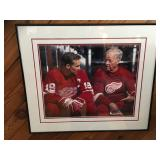 Steve Yzerman & Gordy Howe photograph signed & numbered