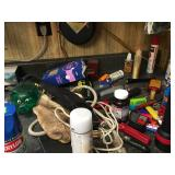 Assorted tool bench supplies