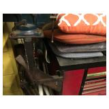 Rolling tool box w/ work top & vise