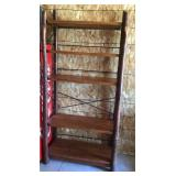 log 5 shelf Heaven duty with iron bracing,