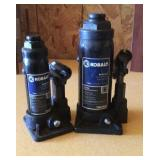 Kobalt bottles jack (qty 1) 6 ton  and (qty 1) 2
