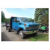 2005 GMC 4x4 Crew Cab Dump Truck