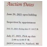 AUCTION DATES