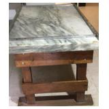 Confectioners marble top table with 1