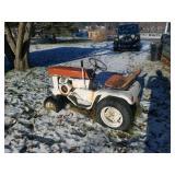 1969 John Deere 112 lawn tractor- patio series- no deck- 10 hp Kohlor- runs.