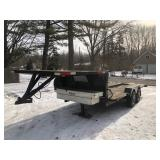 18 ft goose neck trailer 7 ft deck over with toolbox & winch