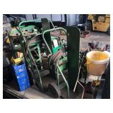 Torch carts with hoses-gauges-torch head