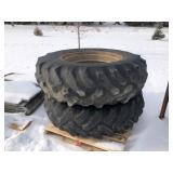Pair of 18.4-34 tires on rims