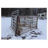 """8- livestock panels 12ft x 5ft 4"""" high  2- 12ft gate panels"""