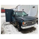 1990 Chevy 1 ton flat bed welding truck 350 cu.- auto trans- 84,084 miles Needs brake line