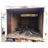 "Truck box 6ft h x 7ft7""w x 10ft L inside"