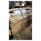 Wood trim, plastic gutter shields, Interiors doors
