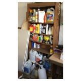 Shelf with misc. dry wall, styro PCs.