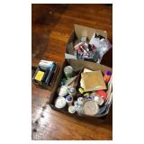 Box lot paint misc, garage items