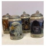 Budweiser Endangered species set of 8 steins