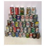 Vintage Beer can collection of 40 cans