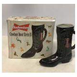 Budweiser Cowboy Boot Stein II