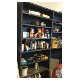 Shelf unit with miscellaneous cars or tractor