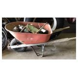 Wheel barrow with contents