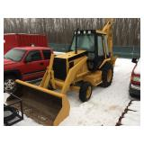 1994 416CX cat backhoe 2 wheel drive Extenda hoe 26