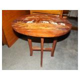 Foldable End Table w/ Inlay